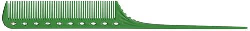 Парикмахерская расческа Y.S.Park YS-101-10 зеленая - фото 12074