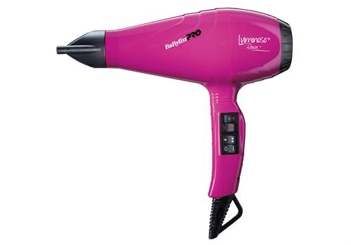 Фен BaByliss Pro LUMINOSO + ,розовый, 2100Вт, 2 насадки - фото 12222