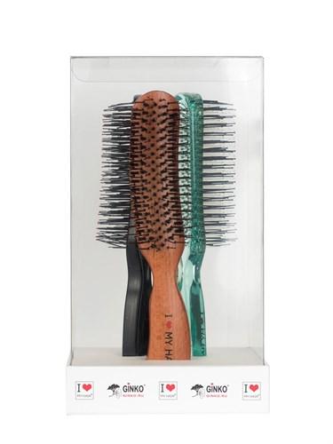 Подарочный набор № 10 щетка черная М, щетка зеленая М, Shiny Brush - фото 12353