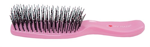 Парикмахерская щетка I LOVE MY HAIR 1503 розовая микро - фото 12457