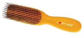 Парикмахерская щетка I LOVE MY HAIR 1501 желтая глянцевая