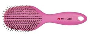 Парикмахерская щетка I LOVE MY HAIR ILMH 1502 розовая глянцевая